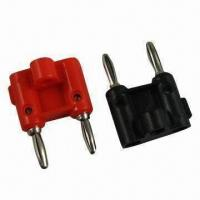 Wholesale Double 4mm Banana Plug, Available in Red/Black/Yellow and Ggreen from china suppliers