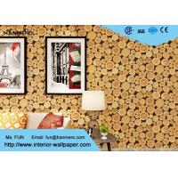 Wholesale Soundproof Wood 3D Wallpaper Home Vinyl Wallpaper For TV Background from china suppliers