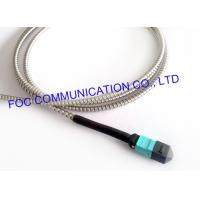 Wholesale MPO Armored Multimode Fiber Optic Cable Cord OM3 MM 50/125um 12 Core from china suppliers