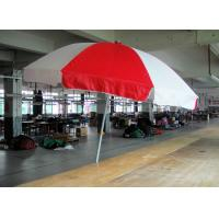 Wholesale Double Layer Red and White Windproof Beach Umbrella Sun Shades Digital Printing from china suppliers