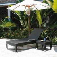Wholesale Outdoor sun chaise lounge chair with PE rattan wicker,UV resistance-garden/hotel furniture from china suppliers