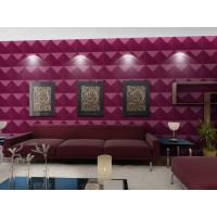 Wholesale Luxury Living Room 3D Wall Coverings / Wall Art 3D Wall Panels with Plant Fiber 500*500 mm from china suppliers