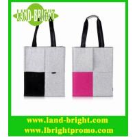 Wholesale Grey and Pink Woolen Felt Tote Bag for Women from china suppliers