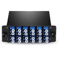 Wholesale 24 Fiber MTP / MPO Patch Cord Single Mode 12 Port Fiber Patch Panel LC UPC Duplex from china suppliers
