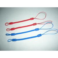 Wholesale Custom Red/Blue Mini Short Pen Spiral Tethers w/Different Nylon Strap on Both Ends from china suppliers