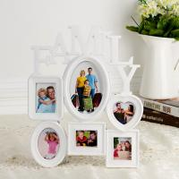 Wholesale Home decoratio 5 photos Big Plastic Wall Hanging Family Photo Frame Family Picture Frame from china suppliers
