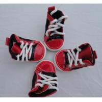 Wholesale Big Size Red pet dog shoes PS06 With canvas / PVC for Summer Non-slip from china suppliers