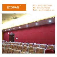 Wholesale Red / White Reinforced Fabric Wrapped Acoustic Panels , Fiberglass Heat Insulation Board from china suppliers