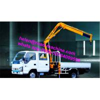 Wholesale Truck Mounted Crane Knuckle Boom Truck Crane 5Ton SQ5ZK3Q yellow crane sinotruk chassis from china suppliers
