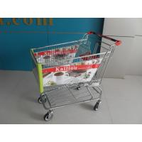 Wholesale Arclic Advertisement Board Shopping Trolley With Swivel Flat Casters from china suppliers