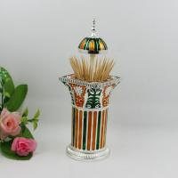 Wholesale Shinny Gifts Luxury Retro Metal Toothpick Holder Pop-up Can Case Box Dispenser Gifts from china suppliers