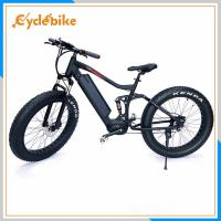 Wholesale 48V 500w Mid Drive Motor Kenda Tire Electric Fat Bike With 36v 10.4ah Samsung Lithium Battery from china suppliers