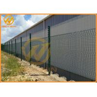 Wholesale 3.3m Height Galvanized Clear View Safety Fence / Security Fence Powder Coated from china suppliers