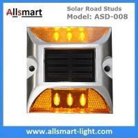 Wholesale 6 LED Solar Road Studs Solar Driveway Lights Aluminum Solar Highway Marker Lights Pedestrian Crossings Warning Lights from china suppliers