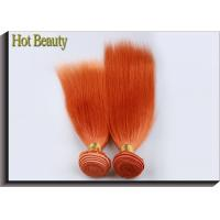 Quality Customized Orange Hair Silk Straight 100% Human Hair Double stitch weft for sale