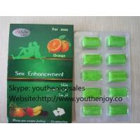 Wholesale Orange Oral Chewing Gum Sex Enhancement for Man from china suppliers