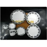 100 % Food Safe Round Coupe Plate For Home Elegant Decal Design