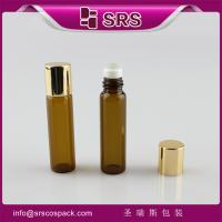 Wholesale Shengruisi packaging BLP-5ml amber glass roll on bottle with aluminum cap from china suppliers