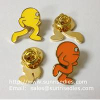 Wholesale Color filled image icon lapel pins, color filled Cartoon icon emblem pin badge, from china suppliers