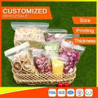 Wholesale Packing Ziplock Bags Customized LDPE polybags food packing clear grip seal from china suppliers