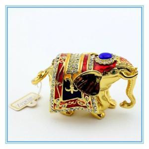 Wholesale Lucky Elephant Handmade Enamel Trinket box from china suppliers