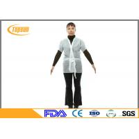 Wholesale Black SPA Nonwoven Massage Parlors , Disposable Spa Kimono Robes 120*140 cm from china suppliers