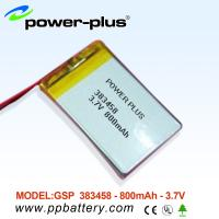 Wholesale 383458 li-polymer battery for GPS application 3.7V /800mAh from china suppliers