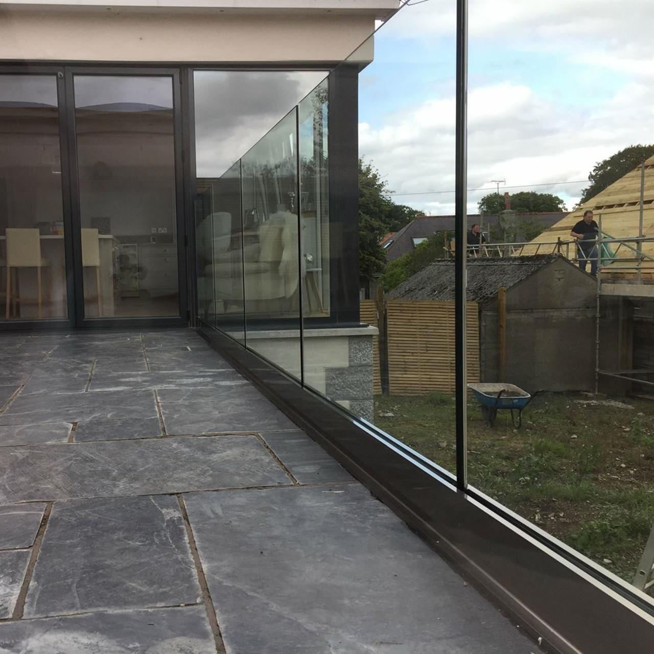 Wholesale frameless glass balustrade channel in aluminum for deck use from china suppliers