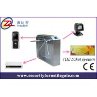 Wholesale Tripod turnstile Electronic Ticketing Systems , 1D 2D Bar Code Support from china suppliers