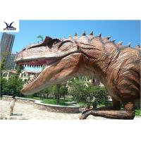 China Lifelike Professional Outdoor Dinosaur Statues Coin Operated In Theme Park on sale