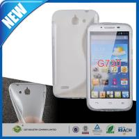 Wholesale Clear S Line Gel Soft TPU Cell Phone Protective Cases , Huawei Ascend G730 Case from china suppliers