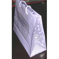 Quality Gravure Printed Soft Packaging Poly Bags With Rope Handle , Plastic Shopping Bag for sale