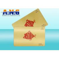 Quality Offset Printing PVC Business IC contactless smart card with Brushed Gold for sale