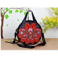 Wholesale 100% Genuine Leather Embroidery Shoulder Bag large size flower shoulder bag our only design from china suppliers