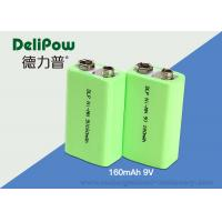 Quality KTV Microphone Nimh 9v Rechargeable Battery , 160mAh Nimh Batteries Rechargeable for sale