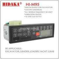 Wholesale car radio stereo player remote control USB and SD  lcd excavator radio from china suppliers