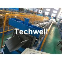 Wholesale Steel Roof Ridge Cap Roll Forming Machine With Guiding Column Forming Structure , PLC Frequency Control System from china suppliers