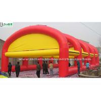 Wholesale Custom Red N Yellow Giant Air Inflatable Tents With Detachable Roof from china suppliers