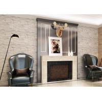 Wholesale Soundproof 3D Brick Effect Wallpaper , Removable Faux Brick Wallpaper For Home Decoration from china suppliers