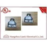 Wholesale Galvanized Steel Flexible Conduit Fittings , Grey Zinc Die Casting Duplex Connector from china suppliers