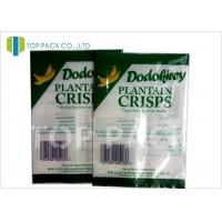 Wholesale Green And White Printed Laminated Pouches Banana Chips Packaging Window from china suppliers