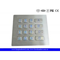 Wholesale Rugged Backlit Metal Keypad With 16 Keys for Security Access Control System from china suppliers