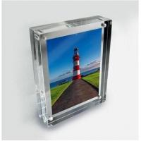 Wholesale clear acrylic photo frame business gift use acrylic block frame from china suppliers