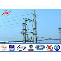 Wholesale Galvanized Metal Utility Power Poles Tapered 15m / 17m High Voltage 10 Kv - 220 Kv from china suppliers