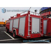 Wholesale Water Tank / Dry Powder Fire Fight Truck With Double Row / Air Braking from china suppliers