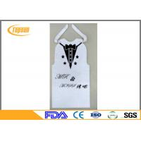Wholesale Disposable BBQ PE Bibs For Food Service , Restaurant Bibs With Snaps / Ties from china suppliers