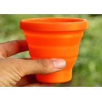 Wholesale Customized Logo Printed Silicone Folding Cup / Orange silicone portable cup 170ml from china suppliers