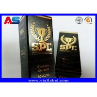 China Printed Cardboard Storage 10ml Vial Boxes With Lids Testosterone Gels Gold Foil Packaging on sale