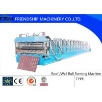 Wholesale Pre - painted Steel Roof Roll Forming Machine with 0.3 mm - 1.0 mm Thickness from china suppliers
