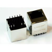 Wholesale 2301995-4 Vertical RJ45 Top Entry 180° Degree PCB Mounting 10Position for 1GB Ethernet from china suppliers